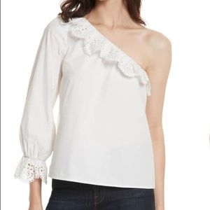 Joie Tops - NWT Joie One Shoulder Eyelet Top Medium Adorable!